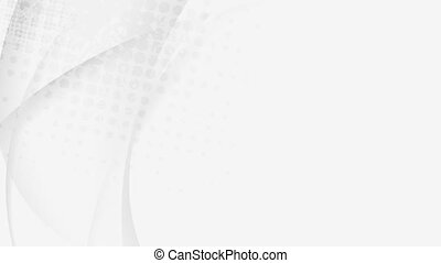 Light grey smooth flowing waves video animation - Light grey...