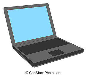 Notebook Computer - A stylized notebook computer showing a...