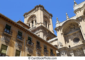 Granada Cathedral (Cathedral of the Incarnation) in gothic...