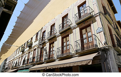 Traditional historic buildings, Granada, Andalucia, Spain