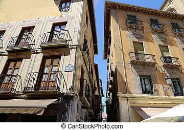 Traditional historic buildings, Granada, Andalucia, Spain