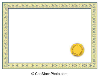 Diploma - A simple frame of a typical diploma All isolated...
