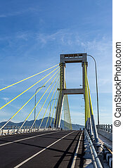 Bridge over the harbor in Manado, Indonesia - The Sukarno...