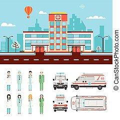 Street with hospital