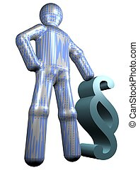 Lawyer - A stylized person standing next to a paragraph. All...
