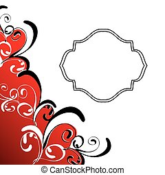 Spiral greeting card - Abstract background with decorative...