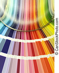 Design with color - Spectrum of color chart samples and...