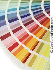 Color chart fan v - Spectrum fan of color chart samples,...