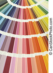 Color swatches - Spectrum fan of color chart sample swatches