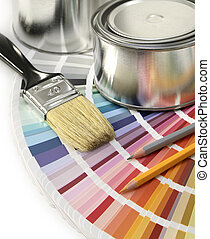 Design with color - Paint color chart sample swatches, paint...