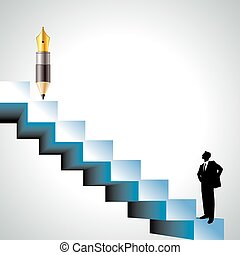 staircase of the success