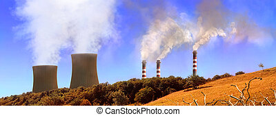 Power generating factories in the mountains