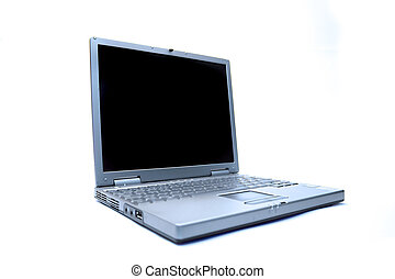 Notebook Computer - A simple notebook computer. All isolated...
