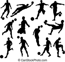 Silhouette Soccer Players - A set of Silhouette Soccer...
