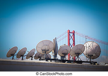 Global Information - Stock Image - Modern communications...
