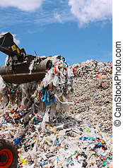 Plastic Waste - Stock Image - Pile of waste for recycling or...