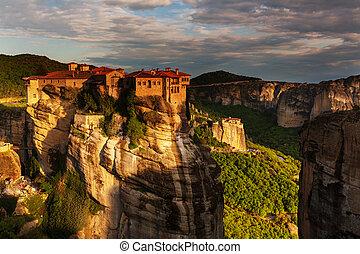 Meteora monasteries in Greece Instagram filter