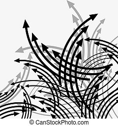 Arrows Chaotic movement Seamless vector wallpaper