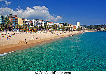 Lloret de Mar beach seascape, Costa Brava, Spain. More in my...
