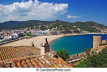 Cityscape view of Tossa de Mar, Costa Brava, Spain. More in my gallery.