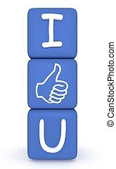 I Like You: blue cubes