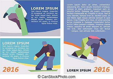 vector snowboard flyer template