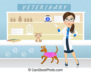 veterinary - illustration of veterinary