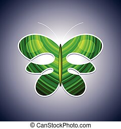 Eco logo butterfly