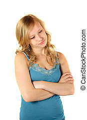 Awkward Young Woman - An awkwardying woman. All isolated on...