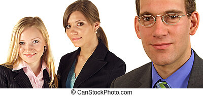 Business team - A team of three handsome business people....