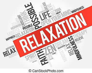 Relaxation word cloud concept