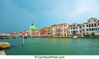 Timelapse of Grand canal in Venice