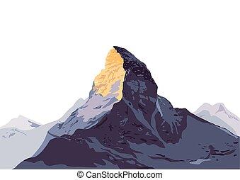 der Berg.eps - mountain hiking, Climbing, Trekking,...