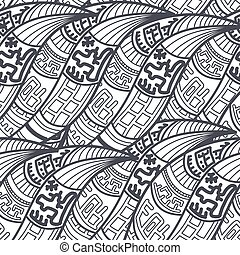 Abstract Seamless ethnic pattern.
