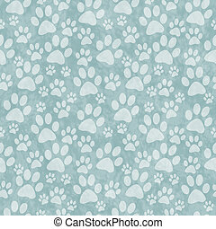 Green Doggy Paw Print Tile Pattern Repeat Background that is...