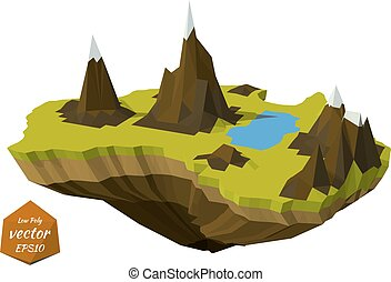 Abstract island with mountains
