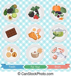 food for brain and health - Set of food for brain and health