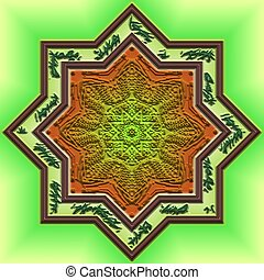 Mandala Eastern abstract design geometric pattern clipart...