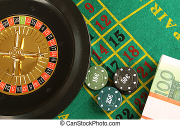 Casino Roulette - Close up of casino roulette Cales....