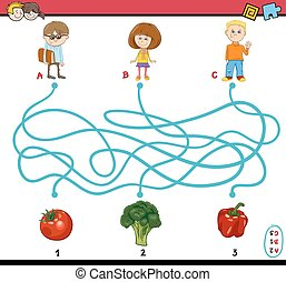 game of path maze for children