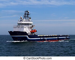 Offshore Supply Ship H - Offshore Supply Ship underway at...