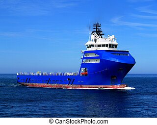 Offshore Supply Ship L - Offshore Supply Ship underway at...