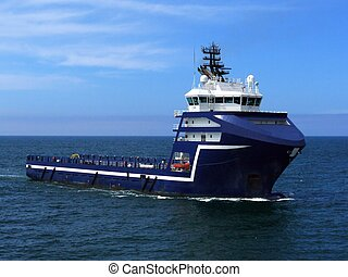 Offshore Supply Ship M - Offshore Supply Ship underway at...