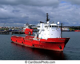 Offshore Supply Ship K - Offshore Supply Vessel in harbour...
