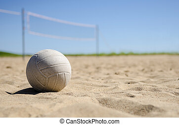 Volleyball on the beach  - image of a beach volleyball court