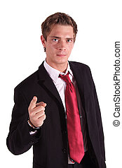Annoyed Businessman - An annoyed businessman. All isolated...
