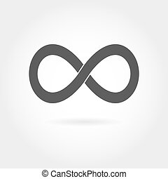Infinity icon Simple mathematical sign Isolated on White...