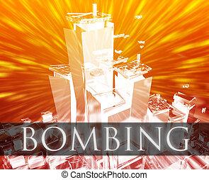 Terrorism bombing - Terrorist terror attack Al Queda...