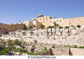 Al Aqsa Mosque and Davids City Jerusalem - Al Aqsa Mosque...