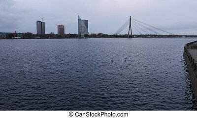 The River Daugava view, Riga, Larvia